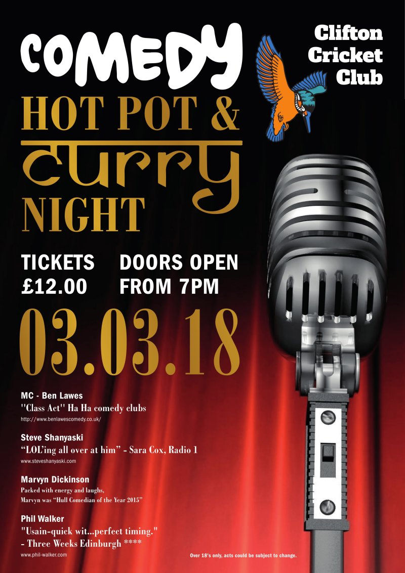 Comedy Hot Pot and Curry Night (OVER 18'S ONLY)